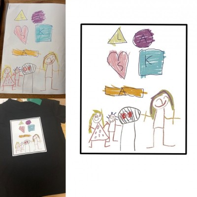Tričko s detským dizajnom