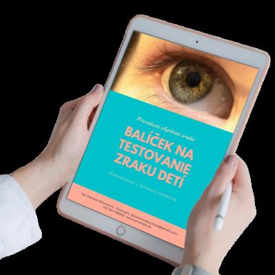 Balíček na testovanie zraku detí zdarma