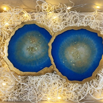 Modré geody - podšálky