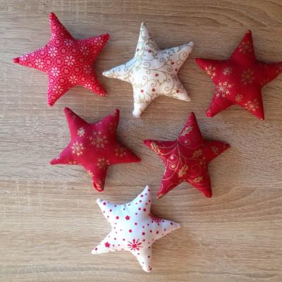 Hviezdičky červeno - biele