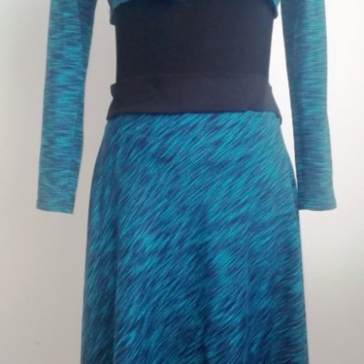 Jesenná modrá sukňa