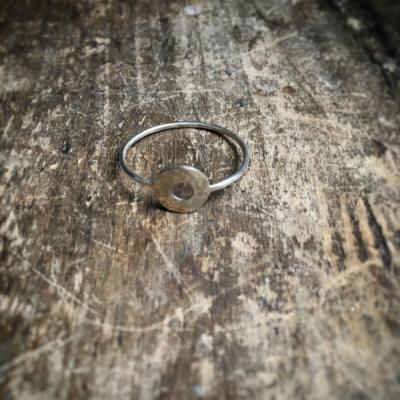 Minimalistický prsteň Koliesko