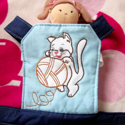 Nosič na bábiku  - mačiatko