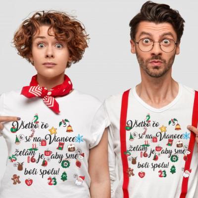 Vianočné rodinné tričko