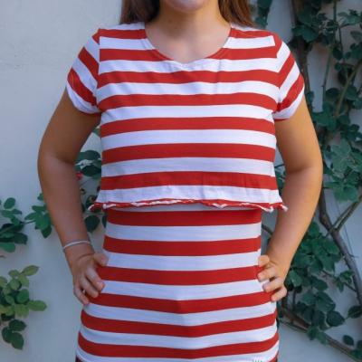 Red stripes- tričko na dojčenie