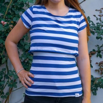 Blue stripes- tričko na dojčenie