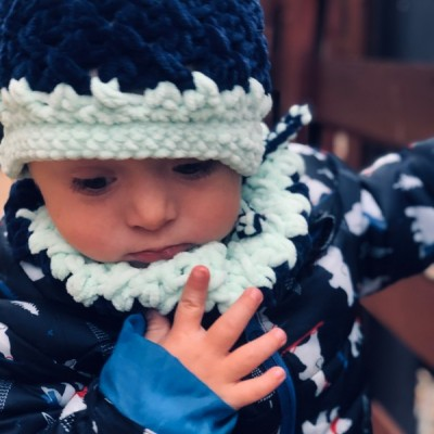 Zimný nákrčník - Snehulo