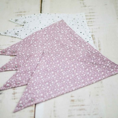 Set slintáčikov - 6ks - ružový mušelín