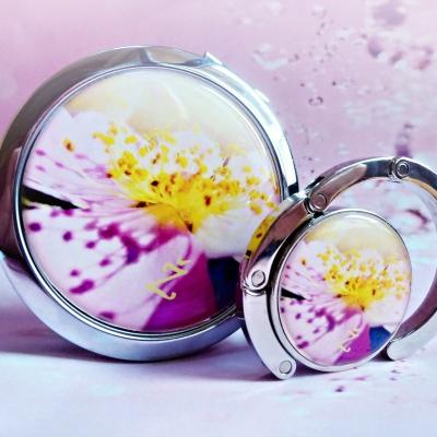 zrkadielko, vešiak na kabelku Šípková ruža