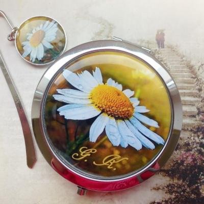 zrkadielko + záložka Margarétka - text na želanie