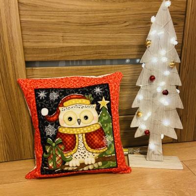 Vianočný vankúšik Sova