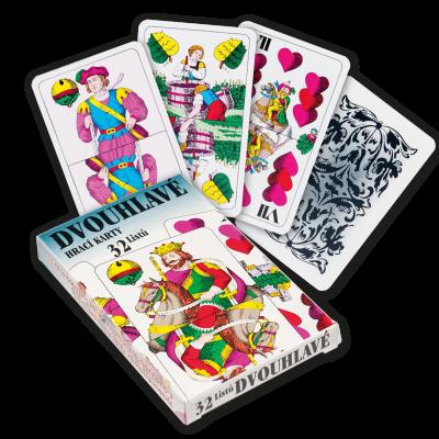 HRACIE KARTY - Mariáš dvojhlavý papierová krabička.