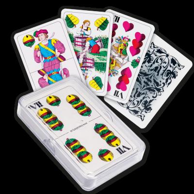 HRACIE KARTY - Mariáš dvojhlavý plastová krabička.