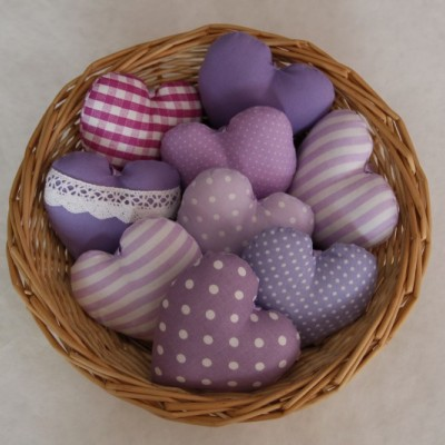 Srdiečka fialové