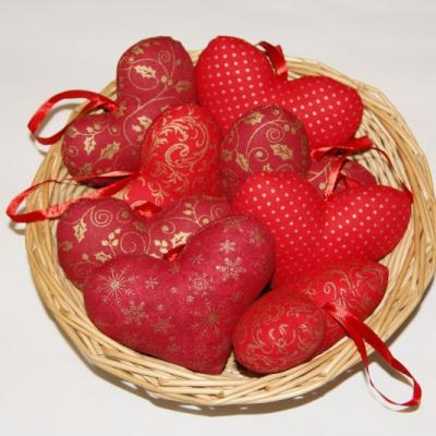 Srdiečka červeno - zlaté
