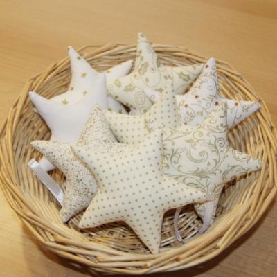 Hviezdičky bielo - zlaté