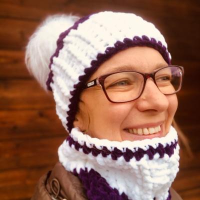 Zimná čiapka a nákrčník - Zuzi