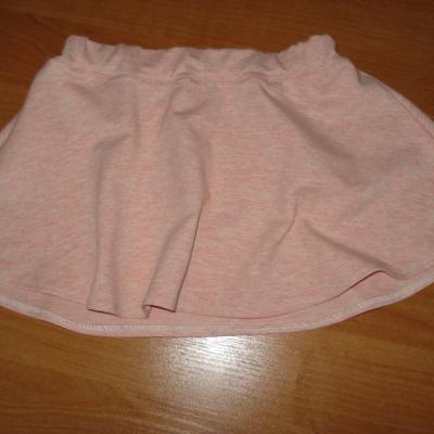 sukňa s teplakoviny  ružová