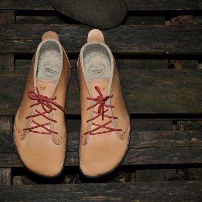 Bohošky NATUR zateplené- Barefoot členková topánka na mieru - dospelácke