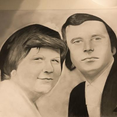 Retro svadobné portréty A3