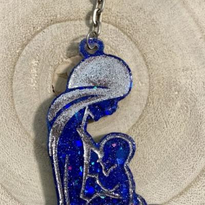 Rodičovské puto - modrá kľúčenka