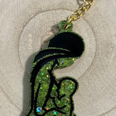 Puto matky a dieťaťa - zelená kľúčenka