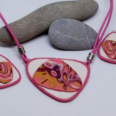 Mokumé-bielo ružové variácie