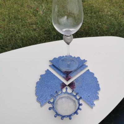 perleťový set s Fialovými glitrami a swarovskeho kryštálmi