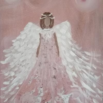 Anjel staro ružový