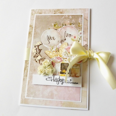 darčekový obal / pohľadnica svadobná