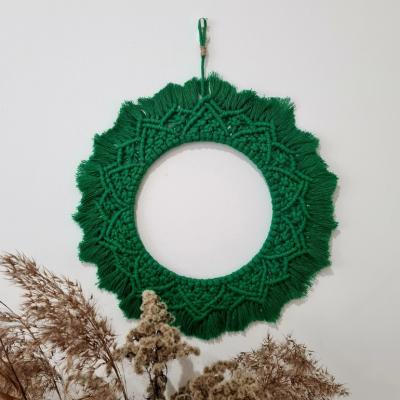 Macrame mandala zelená