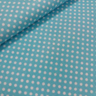 Tyrkysová bavlnená látka - bodka 3 mm