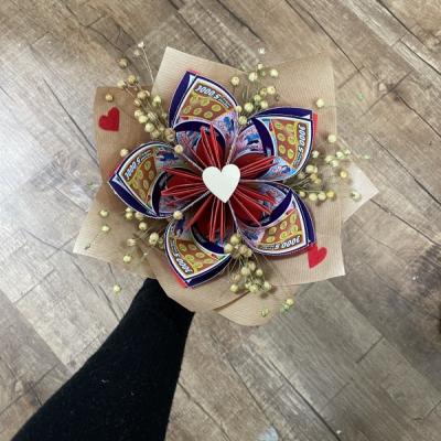 Kytička zo žrebov-Valentínka
