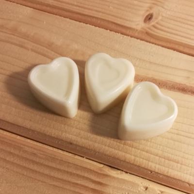 Vonný vosk sójový - Čistá bavlna - 3 srdiečka