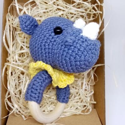 Nosorožec - hrkálka a hryzadlo