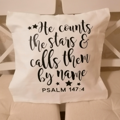 Obleička na vankúšik - žalm 147:4