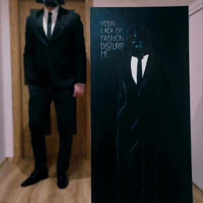 Darth Vader - olejomaľba 65x150