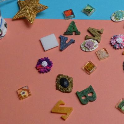 Abeceda, lastúry, kvety a mozaika - zmes
