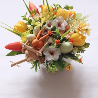 Jarná dekorácia so zajačikom5