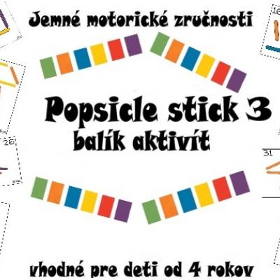 Popsicle stick - balík aktivít 3