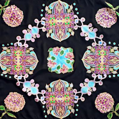 Tajomstvá Orientu-hodvábna maľovaná šatka
