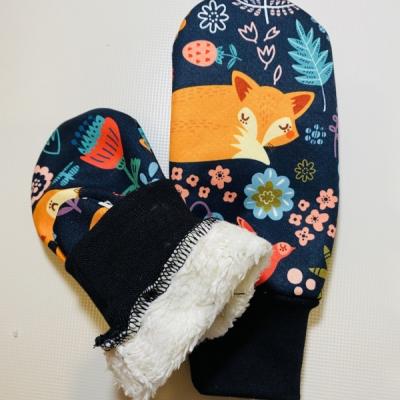 Softshellové rukavičky s kožušinkou