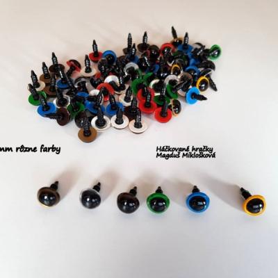 Bezpečnostné očká 10mm  farebné