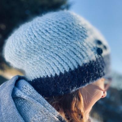 Zimná čiapka - Čučoriedky
