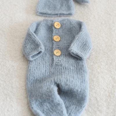 Newborn svetlomodrý set na newborn fotenie