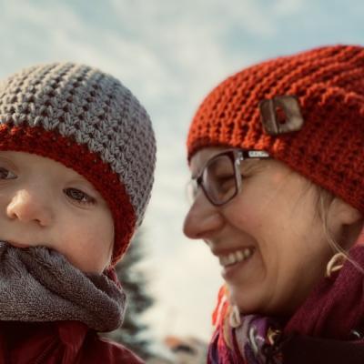 Zimná čiapka set Mama a jej Dieťatko - VMerine