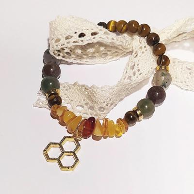 Minerálový náramok_Pre včielku