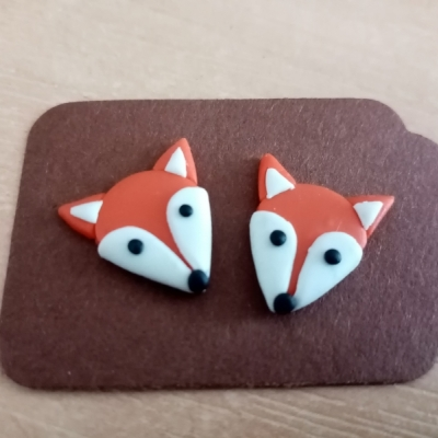 Líšky - menšie náušnice