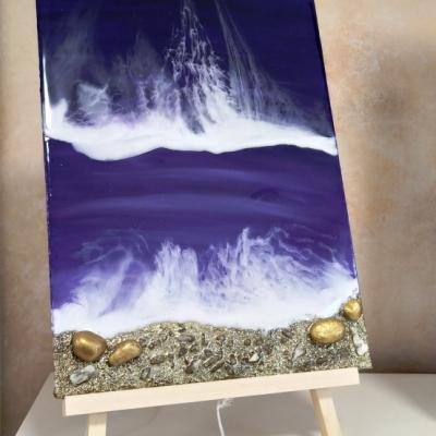 Obraz magické more so stojanom