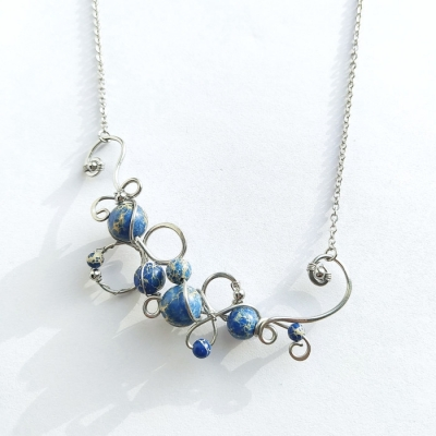 Oceľový náhrdelník _ Bublinky